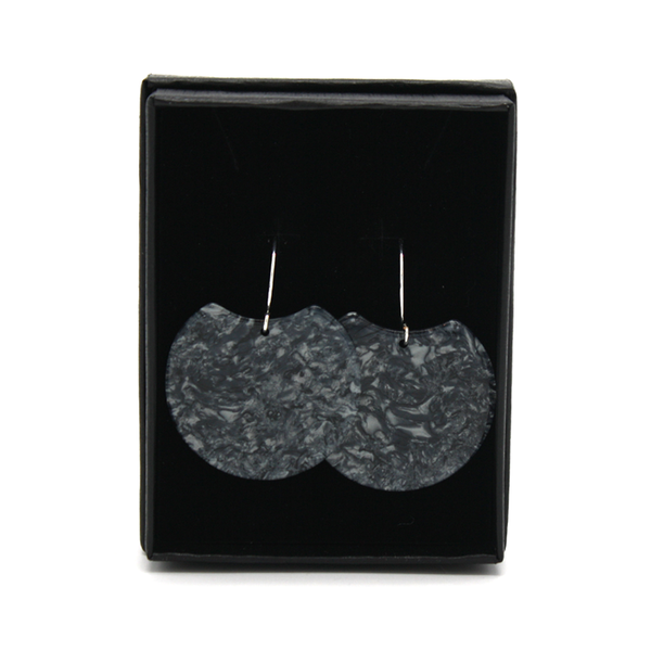 Penny Foggo Earrings Foil Moon Silver