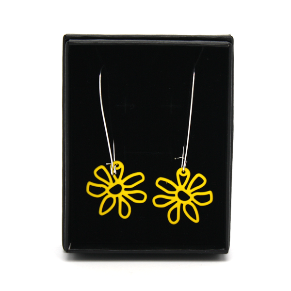 Penny Foggo Earrings Yellow Daisy