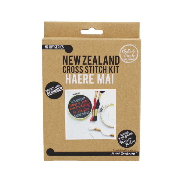 New Zealand Cross Stitch Kit Haere Mai 10cm
