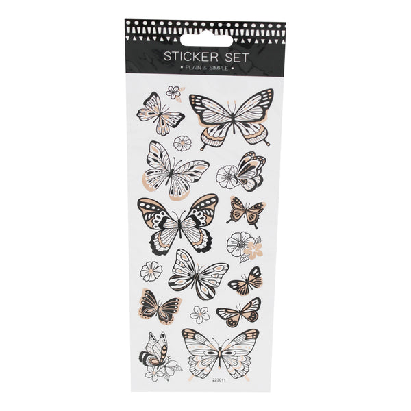 Metallic Butterfly Stickers