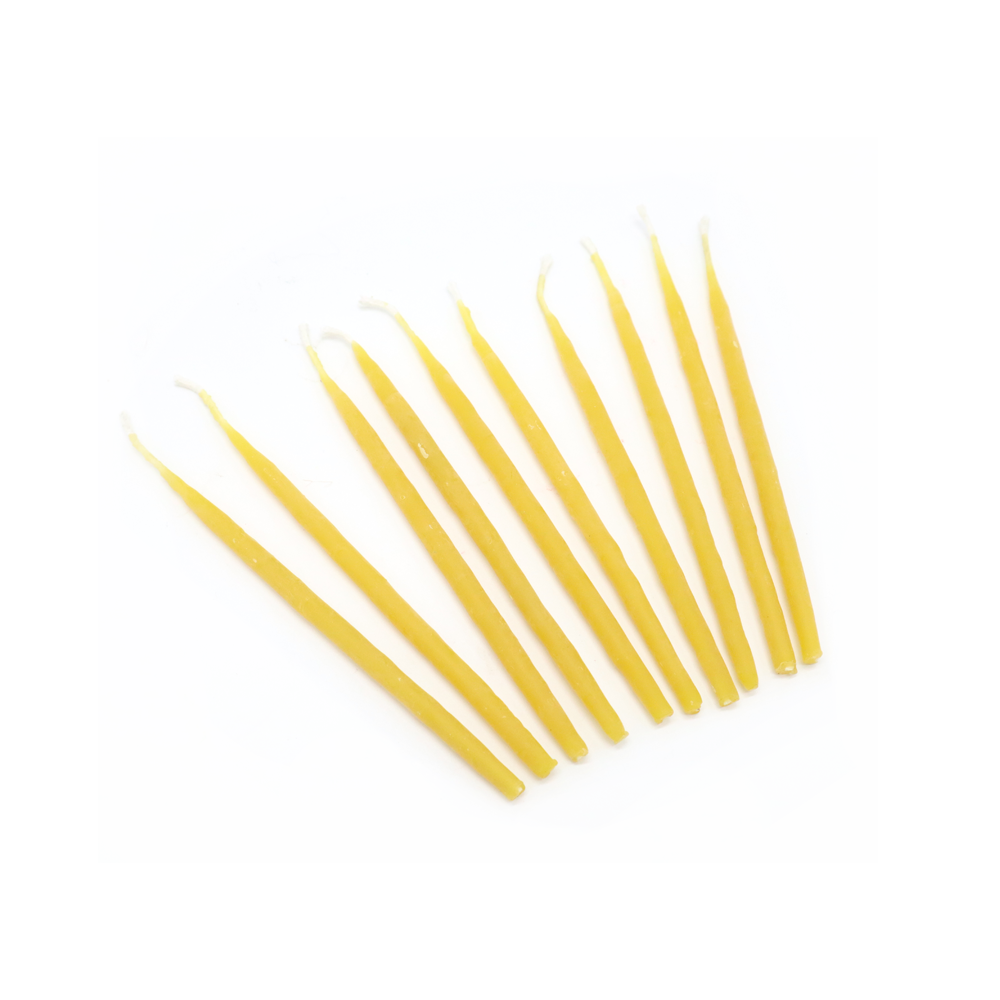 Hexton 100% Beeswax Birthday Candles Pack of 10