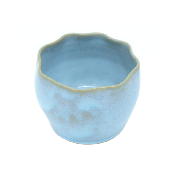 Small Ceramic Planter Blue