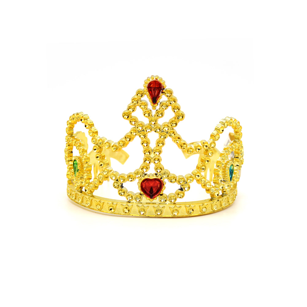 Plastic Tiara Crown with Jewels Assorted