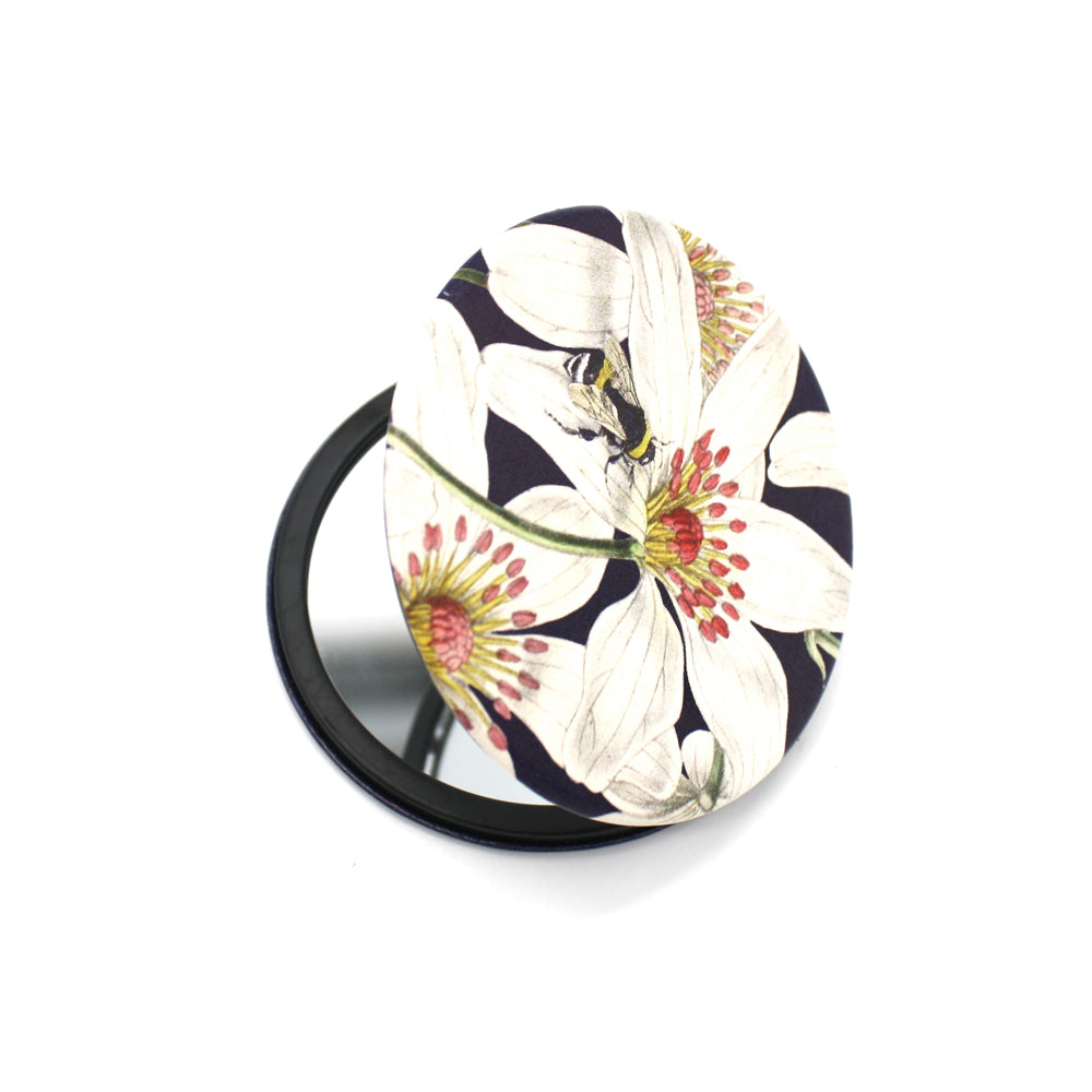 Wolfkamp and Stone Cosmetic Mirror Clematis