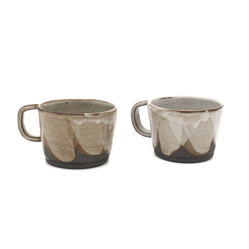 Nidito Handmade Mug Matte Grey Shades on Grey