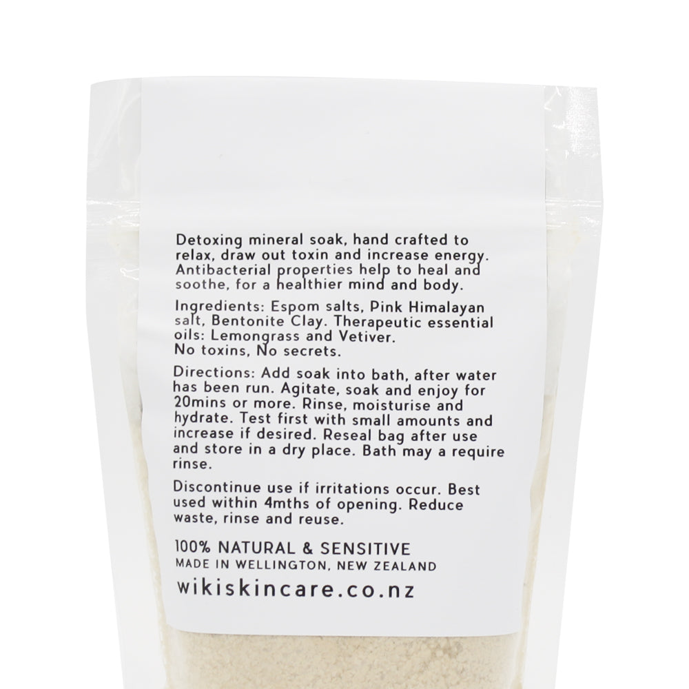 Wiki Skincare Mineral Soak Clay Lemon Vetiver