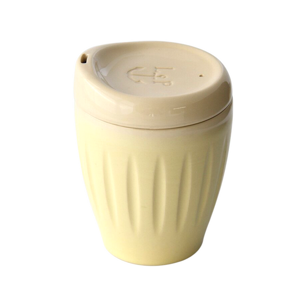 Lyttelton Pottery Deksel Reuseable Cup Yellow