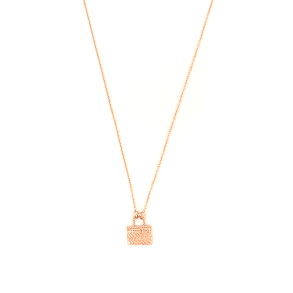 Little Taonga Necklace Kete Rose Gold