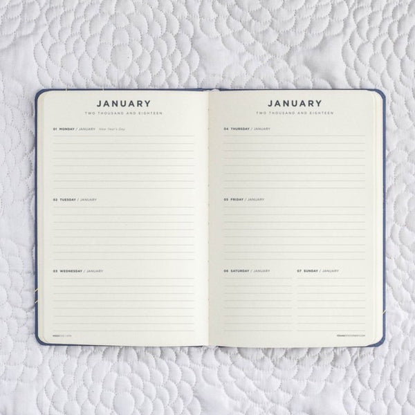 Frank Stationery 2018 Weekly Planner Navy