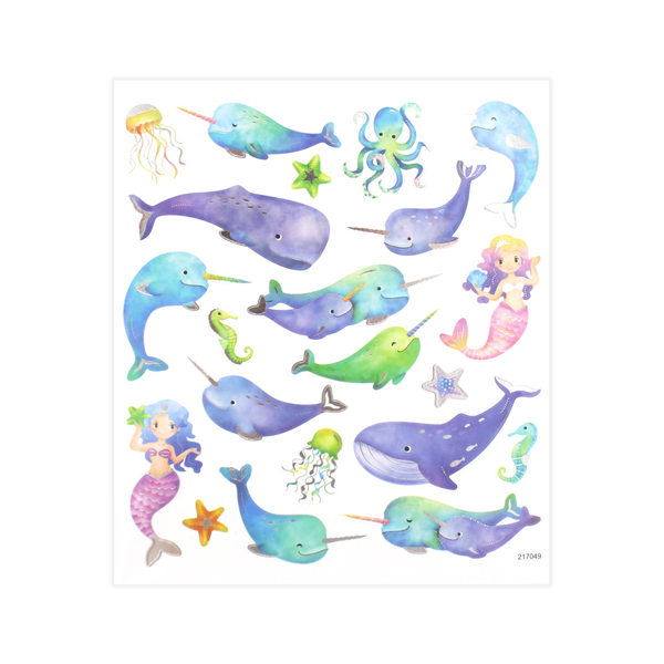 Narwhals and Mermaids Stickers
