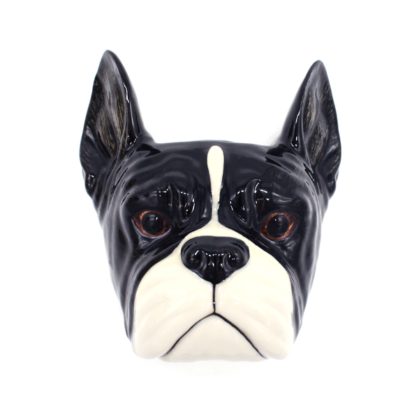 Quail French Bulldog Wall Vase Small