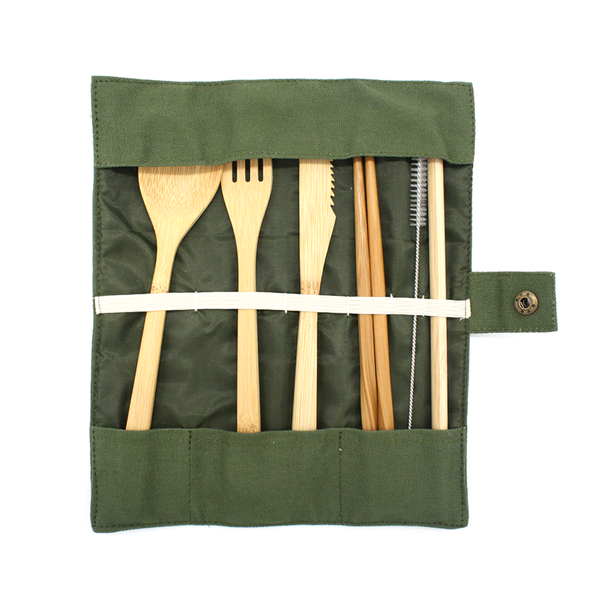 Moana Road Eco Cutlery Set Olive