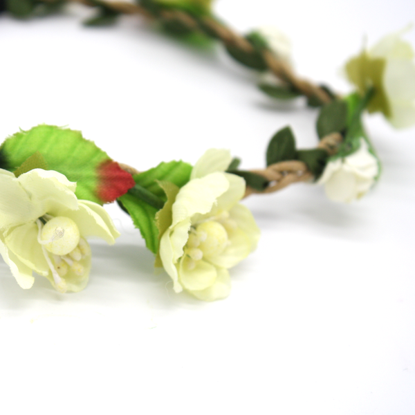 Flower Crown Headband White