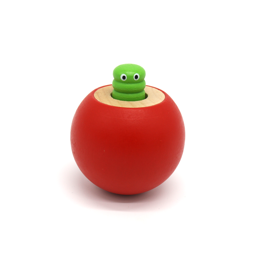 Wooden Squeaky Worm in Fruit