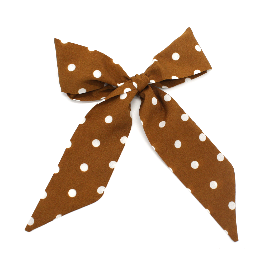 Stella + Gemma Scarf Tie Brown Spotty
