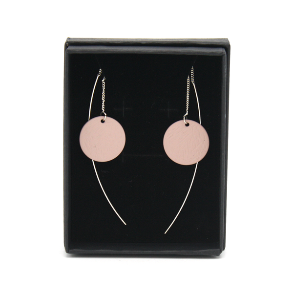 Penny Foggo Earrings Threads Spot Dusty Pink