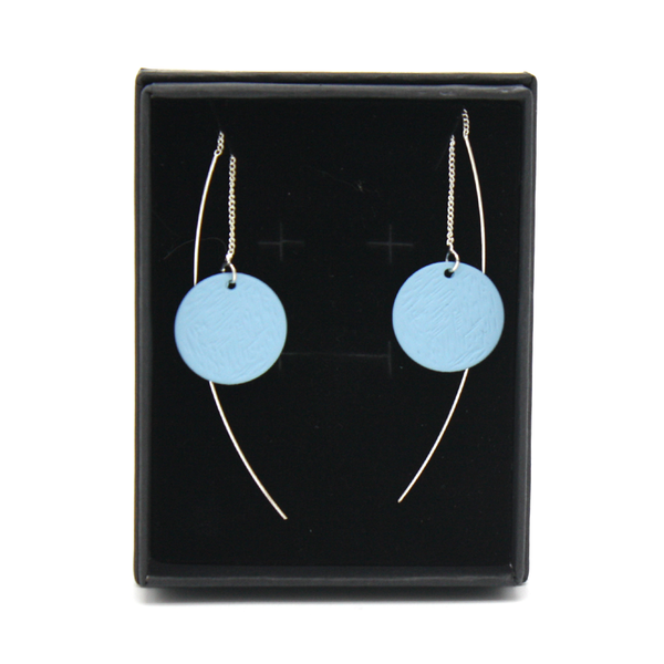 Penny Foggo Earrings Threads Spot Blue