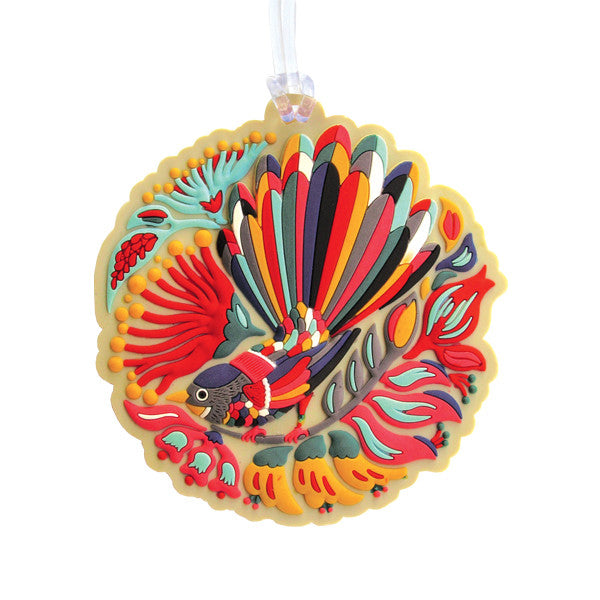 Tofutree Luggage Tag Colourful Fantail
