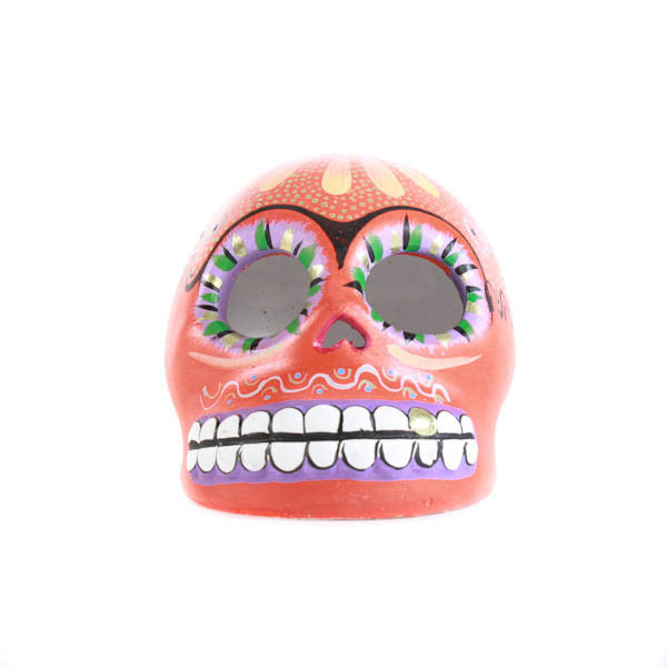 Mexican Red Decorated Skull
