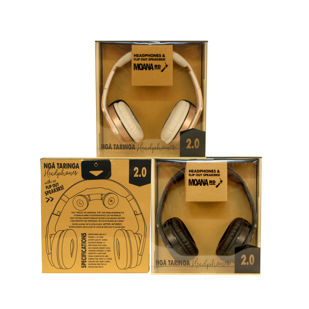 Moana Road Nga Taringa 2.0 Headphones Rose Gold