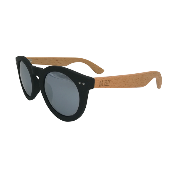 Moana Road Sunnies Grace Kelly Black with Silver Reflective Lens