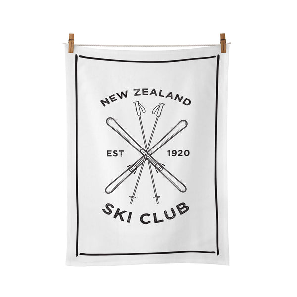 Moana Road Tea Towel NZ Ski Club