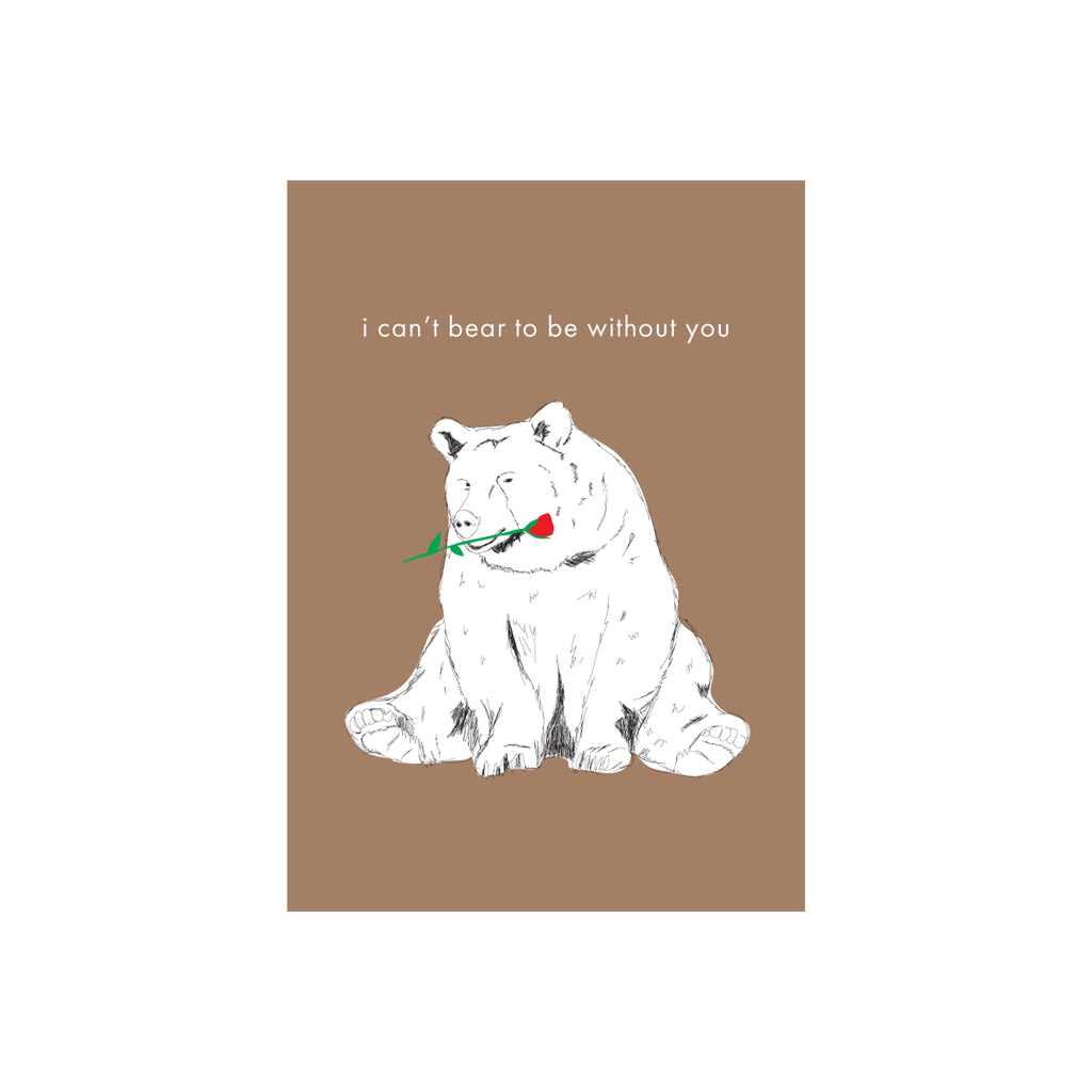 Iko Iko Animal Pun Card Bear
