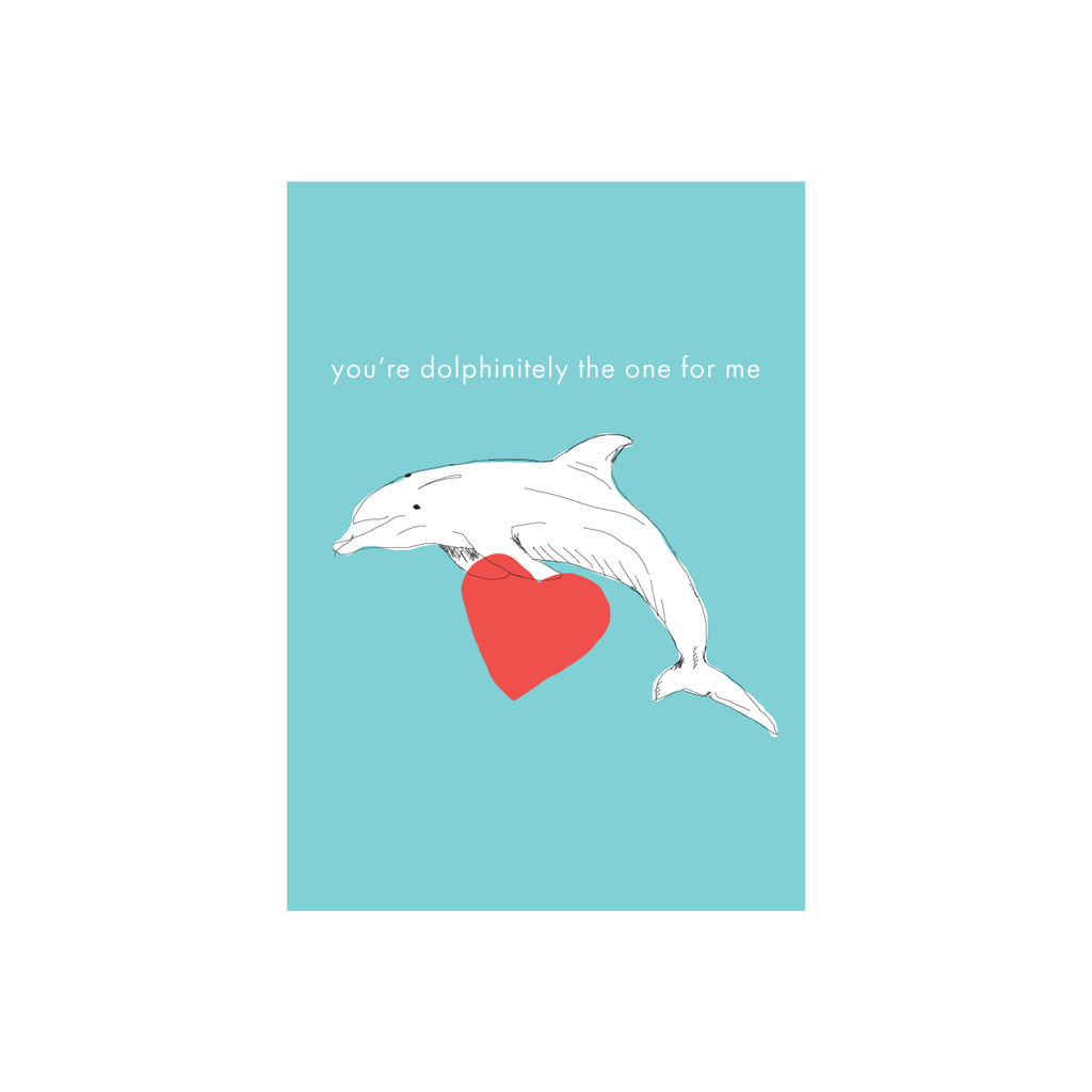 Iko Iko Animal Pun Card Dolphin