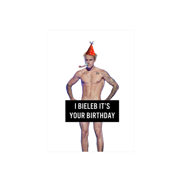 Iko Iko Pop Culture Card Birthday Biebs