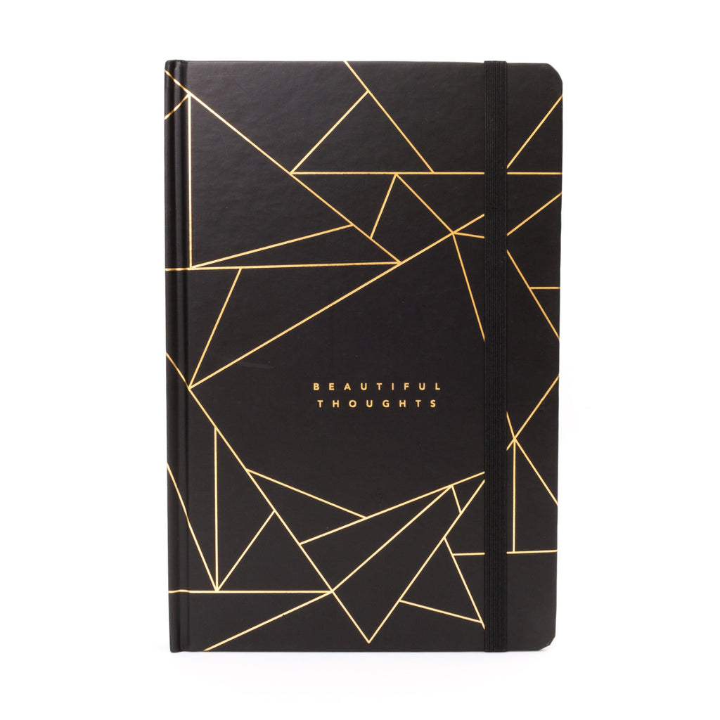 Frank A5 Hard Cover Planner Beautiful Thoughts Black