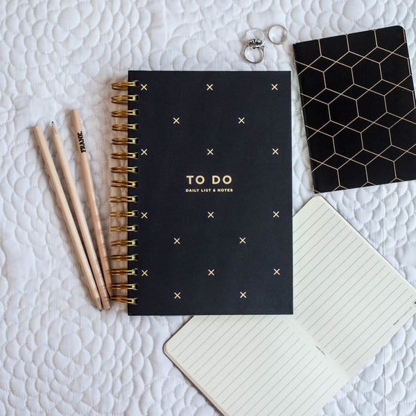 Frank Stationery To Do Daily Lists and Notes Black