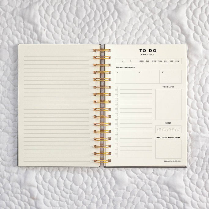 Frank Stationery To Do Daily Lists and Notes Blush
