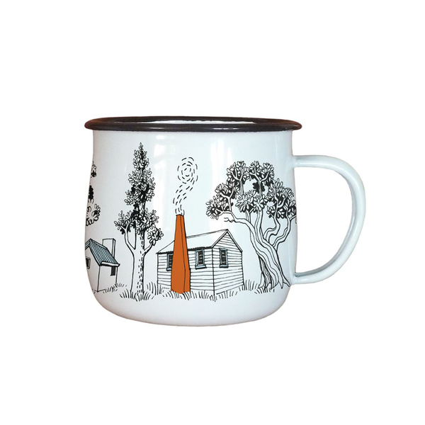 Wolfkamp and Stone Enamel Mug Backcountry Huts