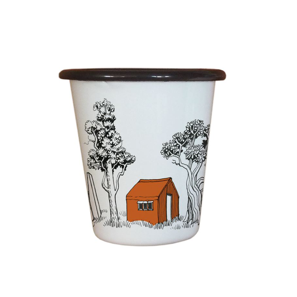 Wolfkamp and Stone Enamel Tumbler Back Country Huts