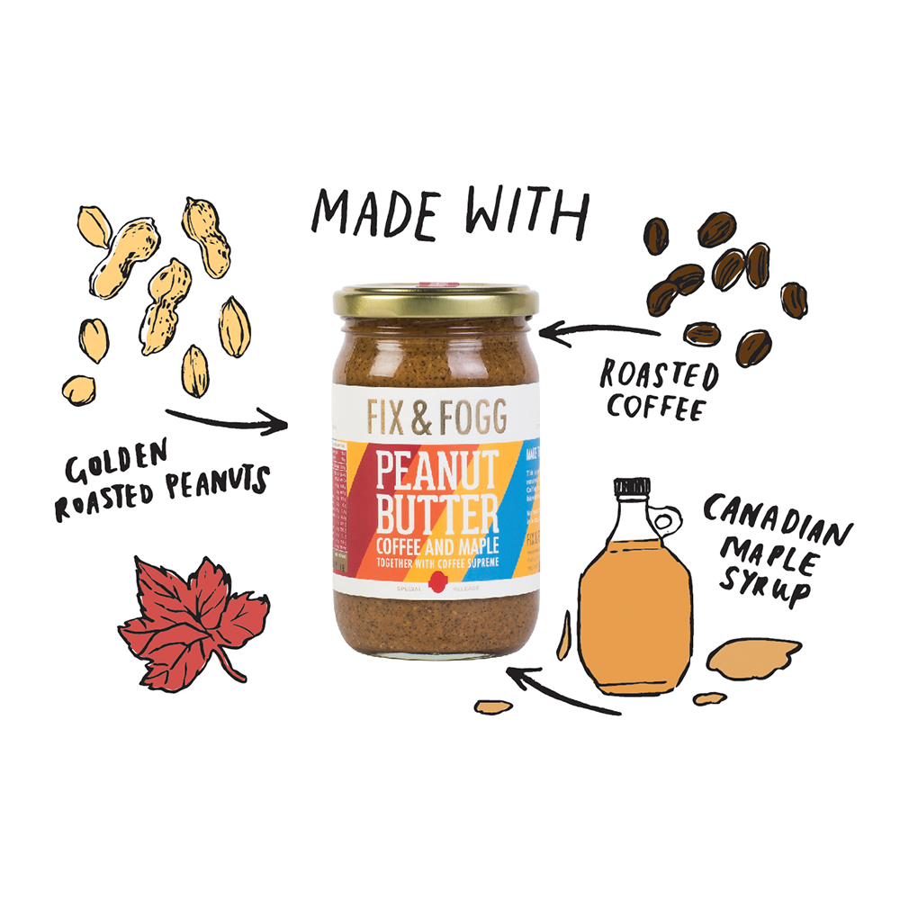 Fix & Fogg Peanut Butter Coffee Maple 275g