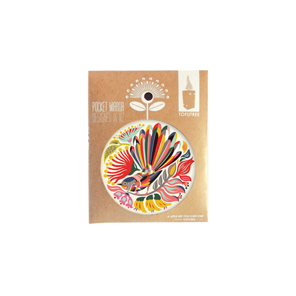 Tofutree Pocket Mirror Colourful Fantail