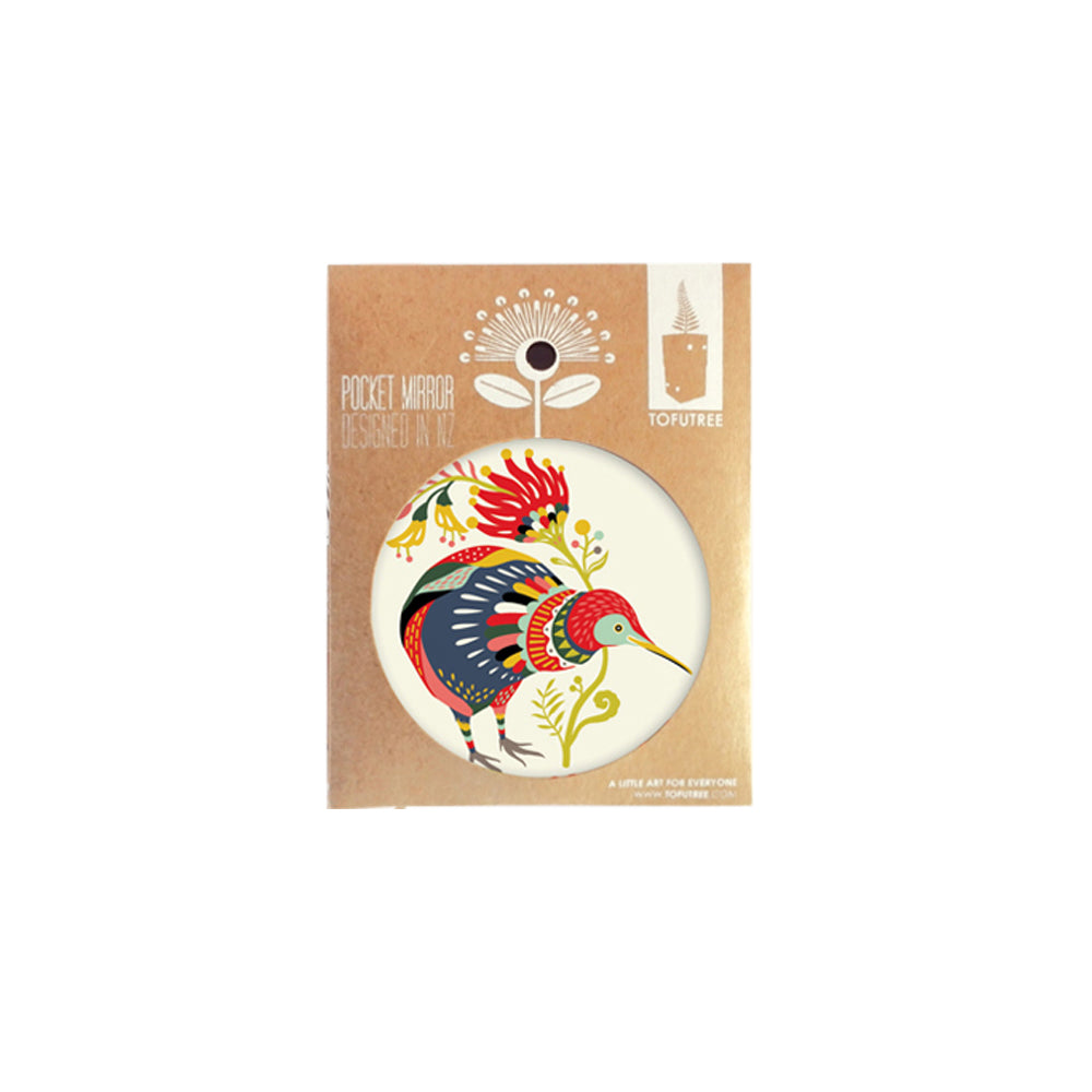 Tofutree Pocket Mirror Kiwi