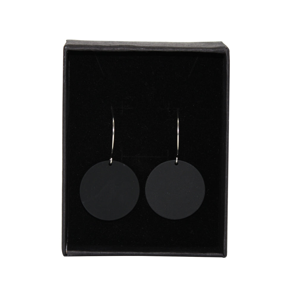 Penny Foggo Earrings Small Spot Black