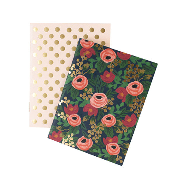 Rifle Paper Co Set of Two Notebooks Rosa
