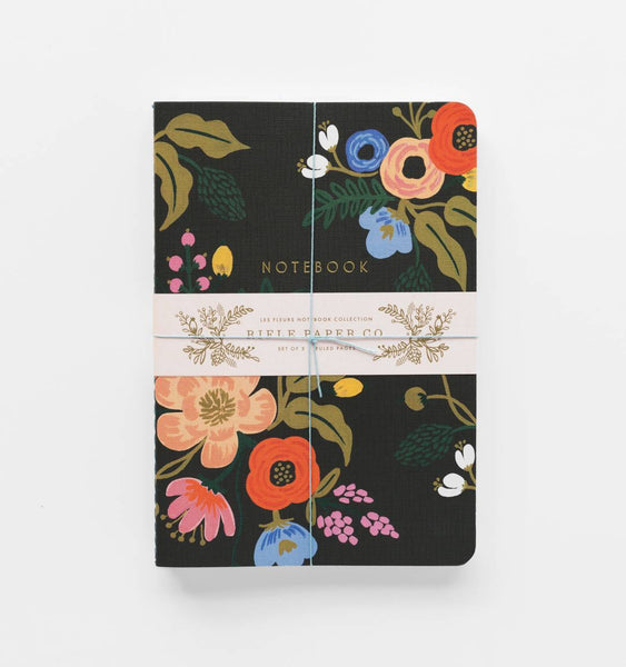 Rifle Paper Co. Stitched Notebooks Ruled Large Pack of 3 Lively Floral