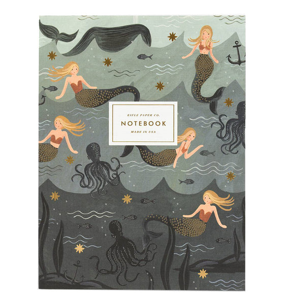 Rifle Paper Co Set of Two Notebooks Vintage Mermaid