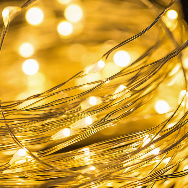 LED Wire Seed Light String 5m Gold Warm White