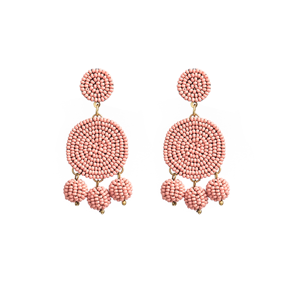 Stella + Gemma Earrings Bead Bonbon Blush