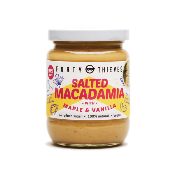 Forty Thieves Salted Macadamia with Maple and Vanilla Bean