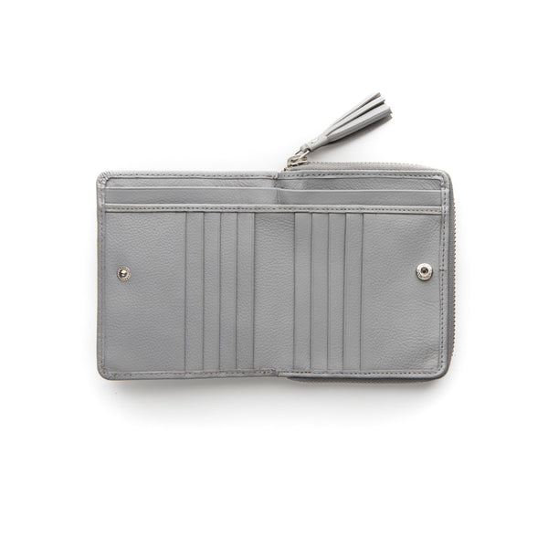 Stitch & Hide Leather Wallet Mia Misty Grey