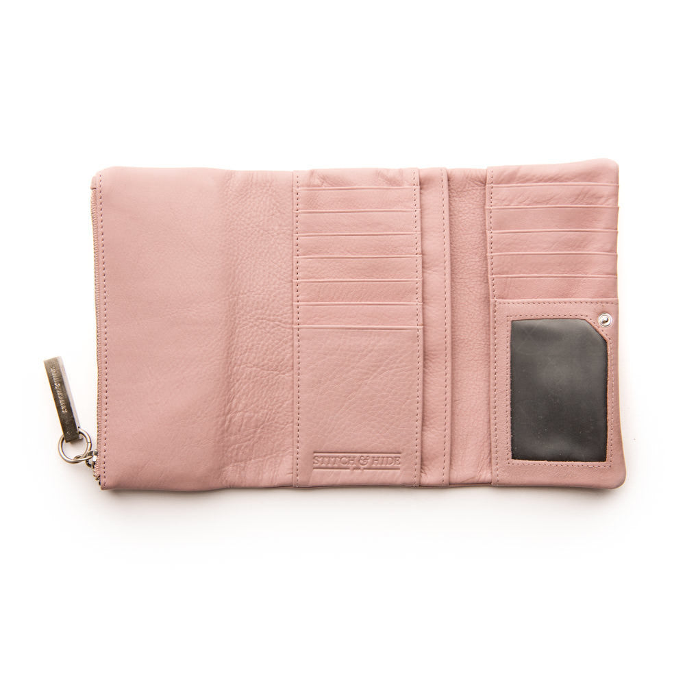 Stitch & Hide Leather Wallet Paiget Dusty Rose