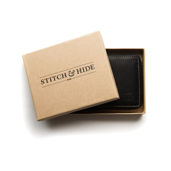 Stitch & Hide Leather Wallet William Black