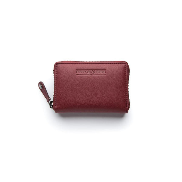 Stitch & Hide Leather Card Wallet Hunter Cherry