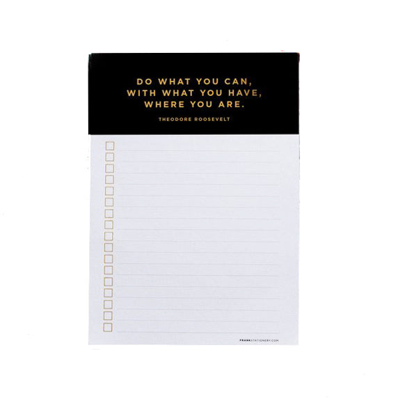 Frank Stationery List Maker Black