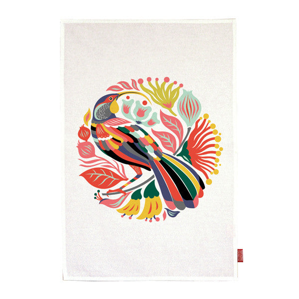 Tofutree Tea Towel Colourful Huia
